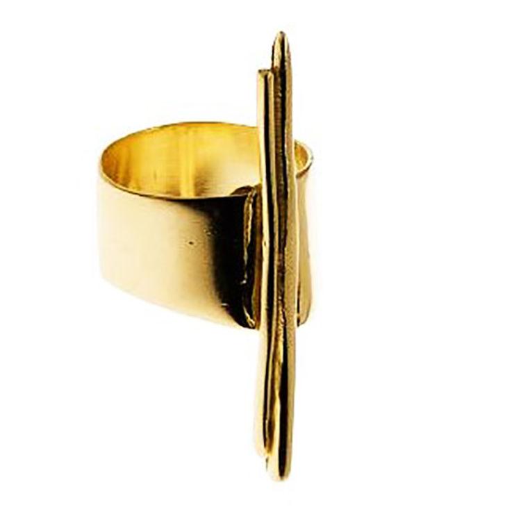 Dora Haralambaki CD2 ring gold